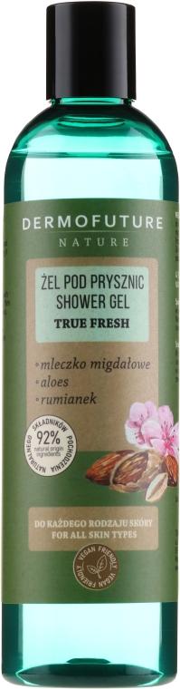Duschgel mit Mandelmilch, Aloe und Kamille für alle Hauttypen - Dermofuture Nature Shower Gel True Fresh