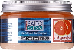 Düfte, Parfümerie und Kosmetik Salzpeeling für den Körper mit Salz aus dem Toten Meer und rotem Grapefruitduft - Saito Spa Salt Body Scrub Red Grapefruit