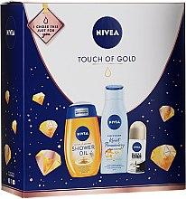 Düfte, Parfümerie und Kosmetik Körperpflegeset - Nivea Touch of Gold (Duschöl 200ml + Körperbalsam 200ml + Deodorant 50ml)