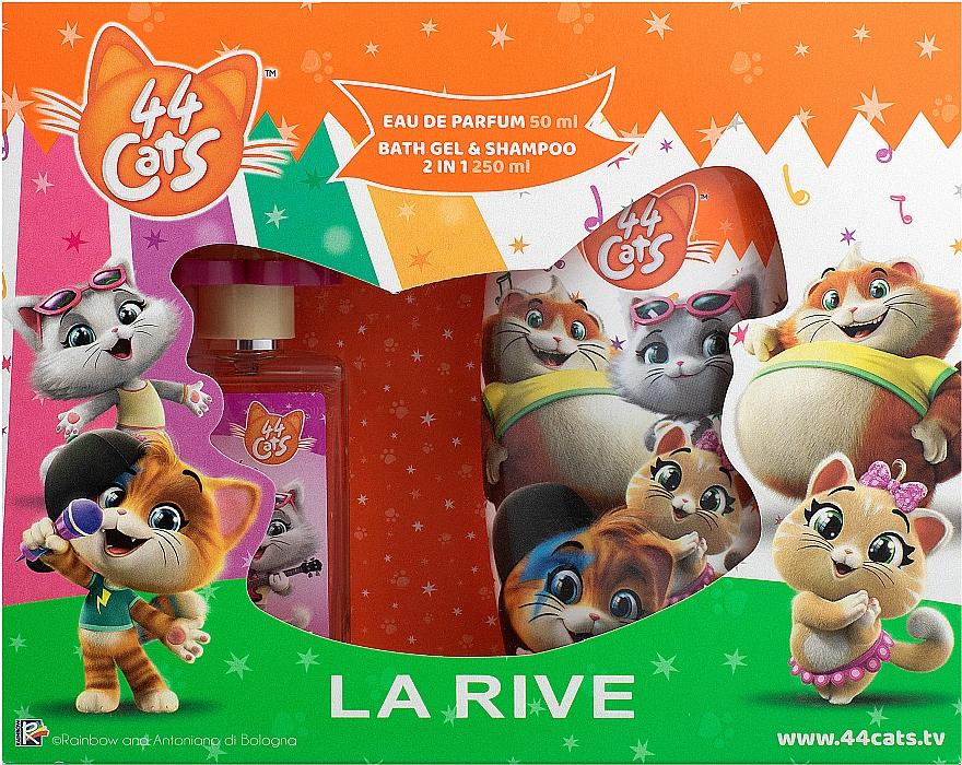 La Rive 44 Cats - Duftset (Eau de Parfum 50ml + 2in1 Duschgel und Shampoo 250ml)