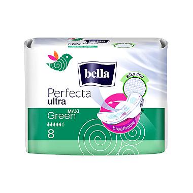 Damenbinden Perfecta Green Maxi Drai Ultra 8 St. - Bella
