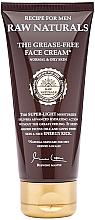 Düfte, Parfümerie und Kosmetik Leichte feuchtigkeitsspendende Gesichtscreme für normale und fettige Haut - Recipe For Men RAW Naturals The Grease-Free Face Cream