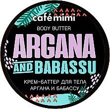 Düfte, Parfümerie und Kosmetik Körpercreme-Butter mit Argan- und Babassuöl - Cafe Mimi Body Butter Argana And Babassu