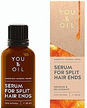 Düfte, Parfümerie und Kosmetik Regenerierendes Anti-Spliss Haarserum - You & Oil Amber. Serum For Split Hair Ends