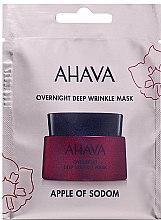 Düfte, Parfümerie und Kosmetik Nachtmaske gegen tiefe Falten - Ahava Apple of sodom Overnight deep wrinkle Mask (Mini)