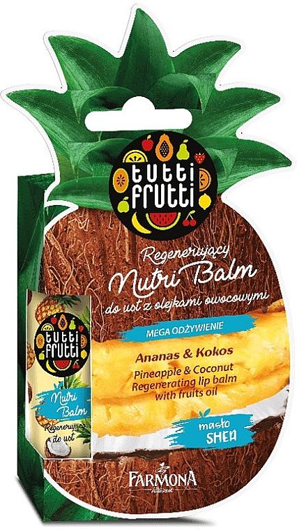 Regenerierender Lippenbalsam mit Ananas und Kokosnuss - Farmona Tutti Frutti Regenerating Lip Balm Pineapple & Coconut