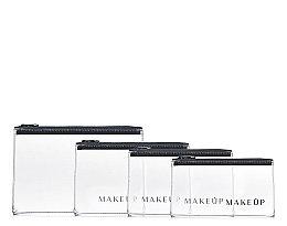 Düfte, Parfümerie und Kosmetik Kosmetiktaschen-Set Flat Glow 4 St. - MakeUp (B:24,5 x H:16 cm), (B:21,5 x H:14 cm), (B:19 x H:13 cm), (B:18,5 x H:10,5 cm)