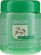 Düfte, Parfümerie und Kosmetik Pferdebalsam mit Rosmarinextrakt - BingoSpa Ointment Horse With Rosemary