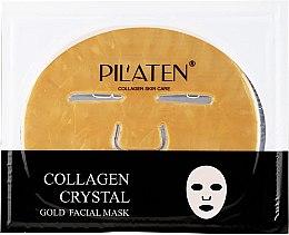 Düfte, Parfümerie und Kosmetik Erfrischende Tuchmaske für das Gesicht mit Kollagen - Pilaten Collagen Crystal Gold Facial Mask
