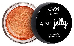 Düfte, Parfümerie und Kosmetik Gel Highlighter auf Wasserbasis für Gesicht und Körper - NYX Professional Makeup A Bit Jelly Gel Illuminator