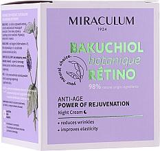 Düfte, Parfümerie und Kosmetik Anti-Aging Nachtcreme mit Vitamin A und E - Miraculum Bakuchiol Botanique Retino Anti-Age Cream