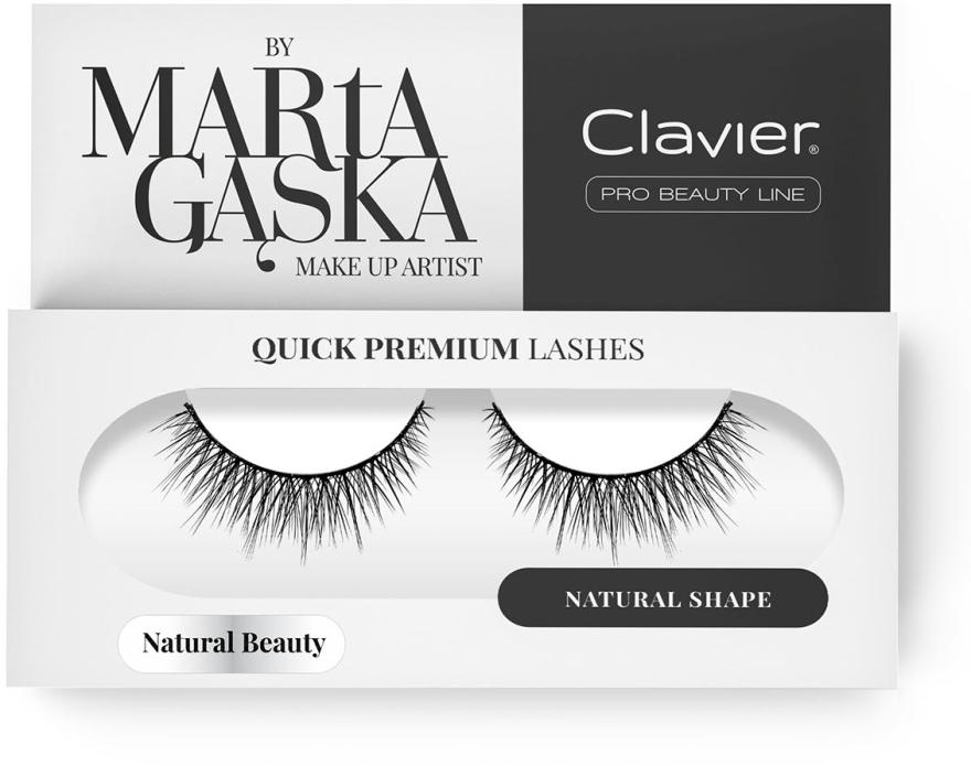 Künstliche Wimpern - Clavier Quick Premium Lashes Natural Beauty 827