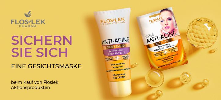Beim Kauf von Floslek Aktionsprodukten erhalten Sie eine verjüngende Gesichtsmaske geschenkt