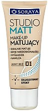Düfte, Parfümerie und Kosmetik Mattierende Foundation - Soraya Studio Matt Make-up Matting