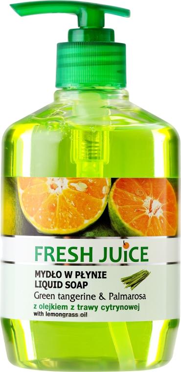 "Cremeseife mit Zitronengrasöl ""Grüne Mandarine & Palmarosa"" mit Spender - Fresh Juice Green Tangerine & Palmarosa"
