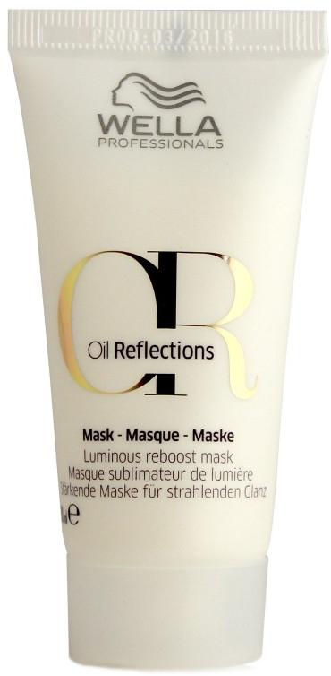 Stärkende Haarmaske für strahlenden Glanz - Wella Professionals Oil Reflections Luminous Reboost Mask (Mini)