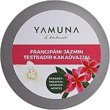 Düfte, Parfümerie und Kosmetik Körperpeeling mit Kakaobutter - Yamuna Frangipani-Jasmine Body Scrub With Cocoa Butter