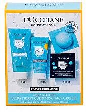 Düfte, Parfümerie und Kosmetik Gesichtspflegeset - L'Occitane Aqua Reotier (Gesichtscreme 20ml + Reinigungsgel 40ml + Gesichtsmaske 2x 6ml)