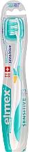 Düfte, Parfümerie und Kosmetik Zahnbürste extra weich Swiss Made türkis-gelb - Elmex Sensitive Toothbrush Extra Soft