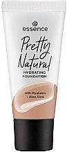 Düfte, Parfümerie und Kosmetik Feuchtigkeitsspendende Foundation mit Hyaluron und Aloe Vera - Essence Pretty Natural Hydrating Foundation