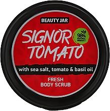 Düfte, Parfümerie und Kosmetik Erfrischendes Körperpeeling mit Meersalz, Tomate und Basilikumöl - Beauty Jar Fresh Body Scrub