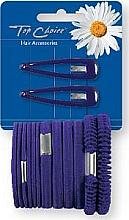 Düfte, Parfümerie und Kosmetik Haarschmuck-Set violett - Top Choice (Klick-Klack-Spange + Haargummis 2+12 St.)