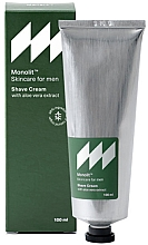 Düfte, Parfümerie und Kosmetik Rasiercreme mit Aloe Vera-Extrakt - Monolit Skincare For Men Shave Cream With Aloe Vera Extract