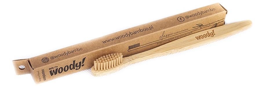 Bambuszahnbürste mittel Classic beige - WoodyBamboo Bamboo Toothbrush Classic