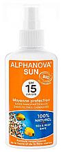 Düfte, Parfümerie und Kosmetik Sonnenspray - Alphanova Sun Protection Spray SPF 15