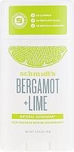 Düfte, Parfümerie und Kosmetik Natürlicher Deostick - Schmidt?s Naturals Deodorant Bergamot Lime Stick