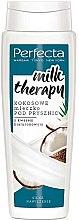 Düfte, Parfümerie und Kosmetik Intensiv feuchtigkeitsspendende Duschmilch mit Kokosnussöl, Hyaluronsäure und Milchproteinen - Perfecta Coconut Shower Milk