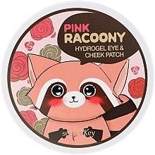 Düfte, Parfümerie und Kosmetik Hydrogel-Patches für Augen und Wangenknochen - Secret Key Pink Racoony Hydro-Gel Eye & Cheek Patch