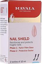 Düfte, Parfümerie und Kosmetik Nagelpflege in zwei Phasen - Mavala Nail Shield (Faserbasis + Schutzschild)