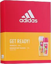 Düfte, Parfümerie und Kosmetik Adidas Get Ready! For Her - Körperpflegeset (Parfümiertes Körperspray 75ml + Duschgel 250ml)