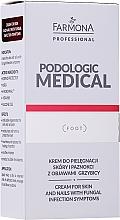 Düfte, Parfümerie und Kosmetik Fußcreme für Haut und Nägel gegen Fußpilz-Symptome - Farmona Professional Podologic Medical Cream For Skin With Fungal Infection Symptoms