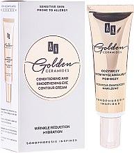 Düfte, Parfümerie und Kosmetik Feuchtigkeitsspendende und glättende Creme für die Augenpartie - AA Cosmetics Golden Conditioning and Smoothening Eye Contour Cream