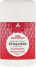 Düfte, Parfümerie und Kosmetik Natürlicher Soda Deo-Stick Pink Grapefruit - Ben & Anna Natural Soda Deodorant Pink Grapefruit