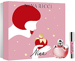 Düfte, Parfümerie und Kosmetik Nina Ricci Nina - Duftset (Eau de Toilette/80ml + Lippenstift)