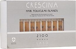 Düfte, Parfümerie und Kosmetik Haarwuchs stimulierende Lotion in Ampullen für Frauen 2100 - Crescina Hair Follicular Island 2100 Woman