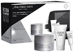 Düfte, Parfümerie und Kosmetik Gesichtspflegeset - Shiseido Men Total Age-Defense Program Set (Gesichtscreme 50ml + Reinigungsschaum 30ml + Augencreme 3ml + Kosmetiktasche)
