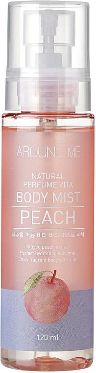 Feuchtigkeitsspendender Körpernebel mit Pfirsich-Extrakt - Welcos Around Me Natural Perfume Vita Body Mist Peach
