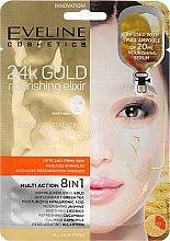 Düfte, Parfümerie und Kosmetik Pflegende Gesichtsmaske 8in1 - Eveline Cosmetics 24k Gold Nourishing Elixir Mask