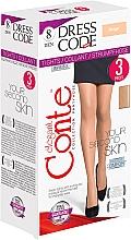 Düfte, Parfümerie und Kosmetik Strumpfhose für Damen Dress Code 8 Den 3 St. Beige - Conte