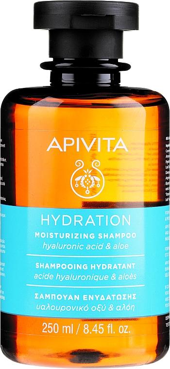 Feuchtigkeitsspendendes Shampoo mit Hyaluronsäure und Aloe - Apivita Moisturizing Shampoo With Hyaluronic Acid & Aloe