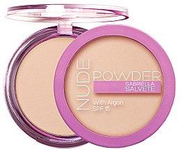 Düfte, Parfümerie und Kosmetik Gesichtspuder mit Arganöl LSF 15 - Gabriella Salvete Nude Powder SPF15