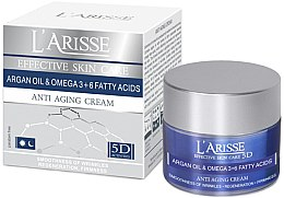 Düfte, Parfümerie und Kosmetik Anti-Aging Gesichtscreme mit Omega-3+6-Fettsäure 65+ - Ava Laboratorium L'Arisse 5D Anti-Wrinkle Cream Agran Oil & Omega 3+6