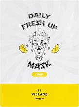 Düfte, Parfümerie und Kosmetik Tuchmaske für das Gesicht mit Zitronenextrakt - Village 11 Factory Daily Fresh Up Mask Lemon