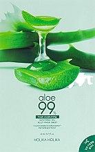 Düfte, Parfümerie und Kosmetik Beruhigende Gesichtsmaske mit Aloe Vera-Saft - Holika Holika Aloe 99% Soothing Gel Jelly Mask Sheet