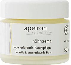 Düfte, Parfümerie und Kosmetik Nährende und regenerierende Nachtcreme für reife und anspruchsvolle Haut - Apeiron Nourishing Regenerating Night Cream