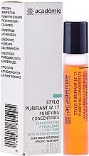 Düfte, Parfümerie und Kosmetik Klärender Roll-On Stick für das Gesicht zur lokalen Behandlung - Academie Purifying Concentrate IZ 17